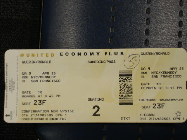 My first airline ticket... ever