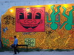 Keith Haring memorial mural on East Houston & Bowery