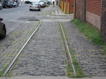tracks and cobblestones