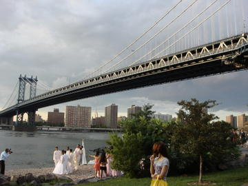 wedding under the manhattan bridge