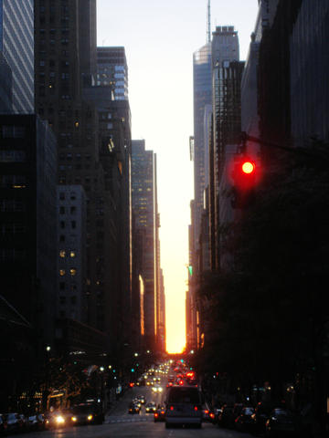 manhattanhenge on 42nd st.