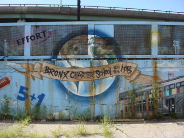 bronx charter school for the arts mural
