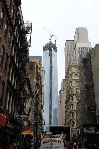 time marches on more quickly than construction has on the wtc site