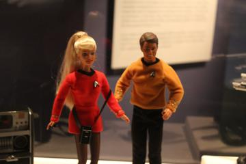 barbie, sadly, was killed within 60 seconds of beaming over to the funhouse.  never ever wear the red uniform on 1960's star trek.