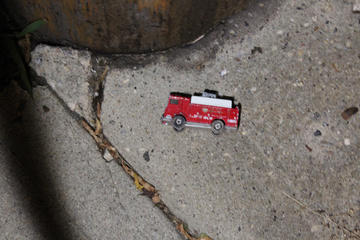 i don't think i ever found a toy in the street in the city