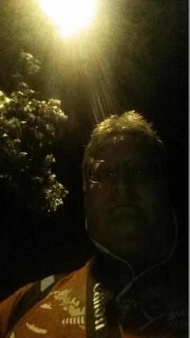 in the eerie glow