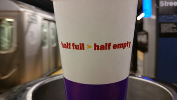 the cup is empty
