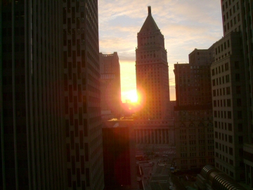 sunrise near federal plaza